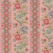 Moda - Jardin de Versailles, French General - 5896 -  Pink Stripe Floral - 13811 15 - Cotton Fabric